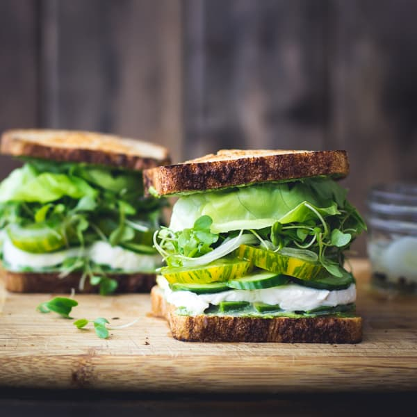 Brotzeit Ideen - Grüne göttinen Sandwich