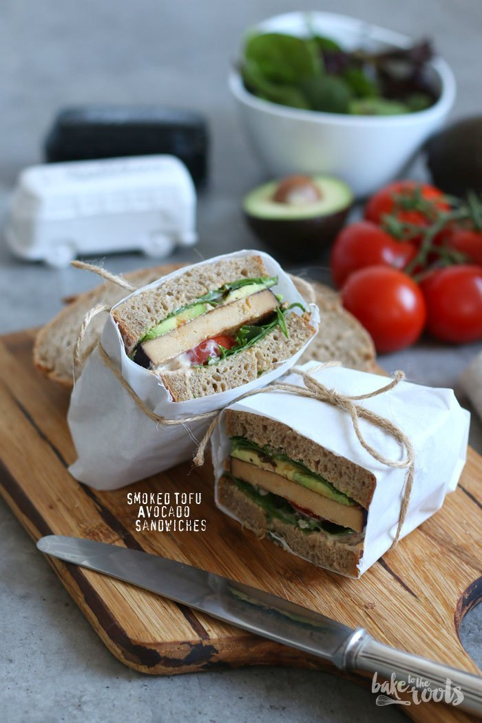 Brotzeit Ideen - Räuchertofu-Avocado Sandwich