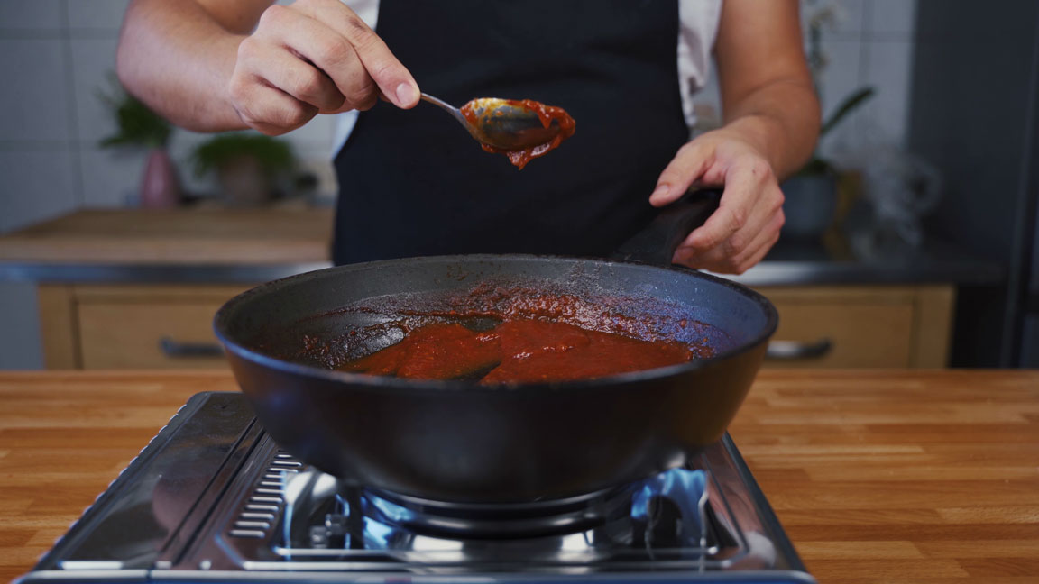 Ketchup selber machen -aufkochen